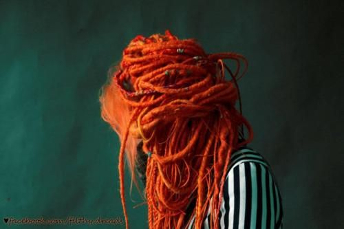 orange dreads